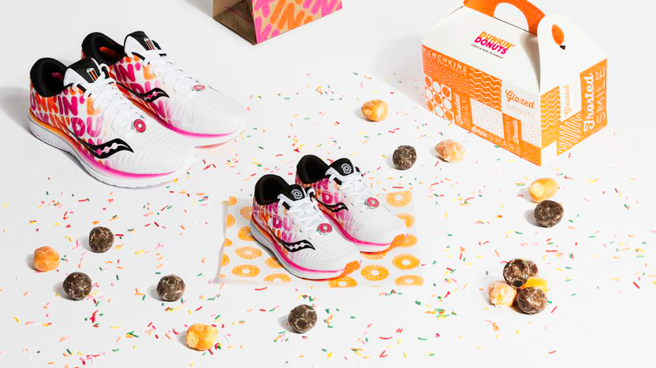 promo code 40479 9eacf Footwear brand Saucony and fast-food chain Dunkin  have launched a new sneaker  collaboration ahead of the 2019 Boston Marathon on April 15th, combining  the ...