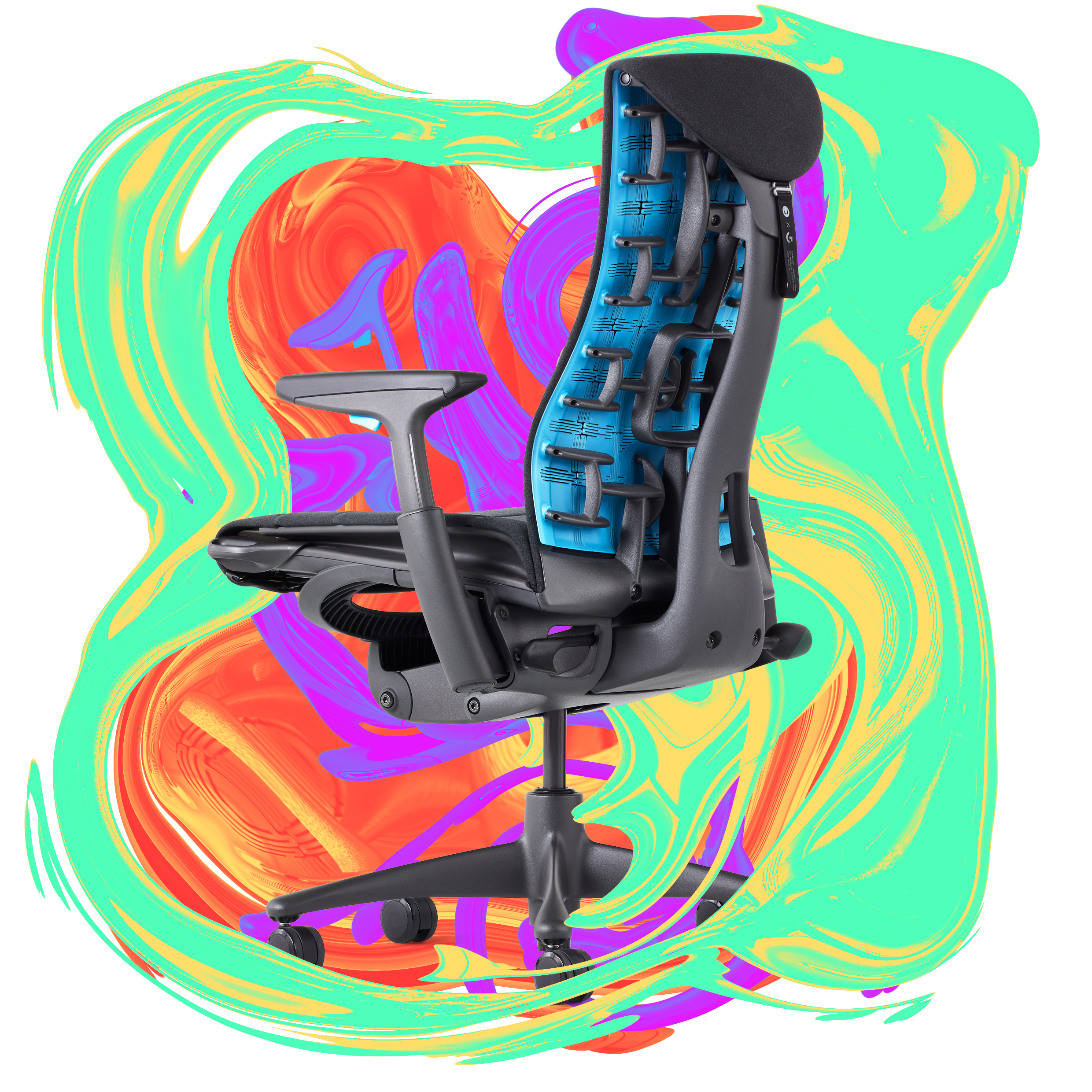 An ergonomic chair for gamers